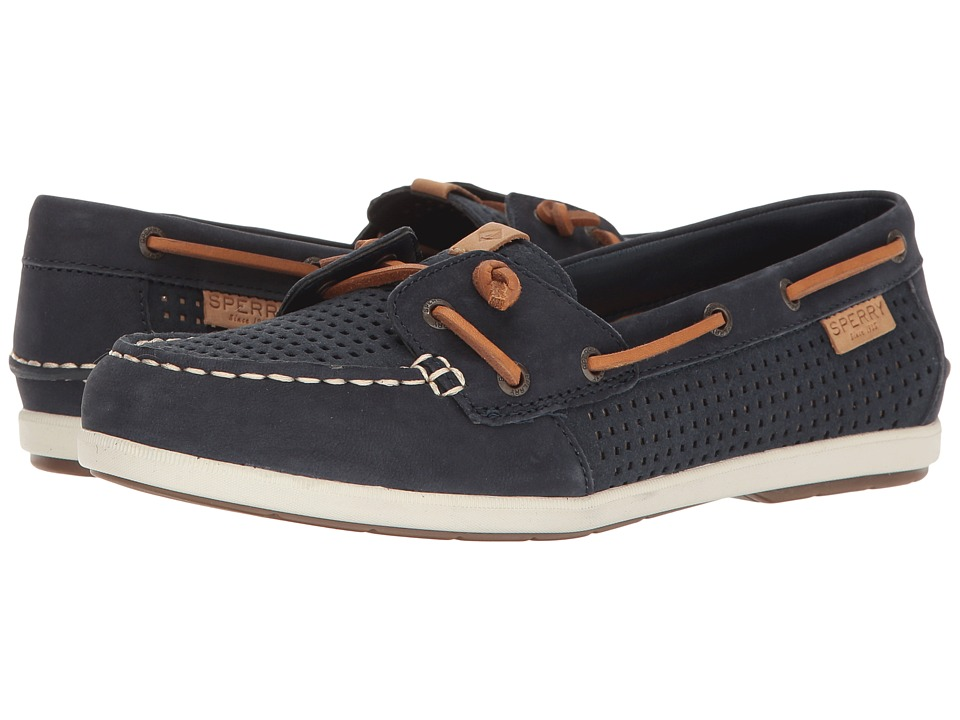 Sperry - Coil Ivy Perf (Navy) Women's Moccasin Shoes