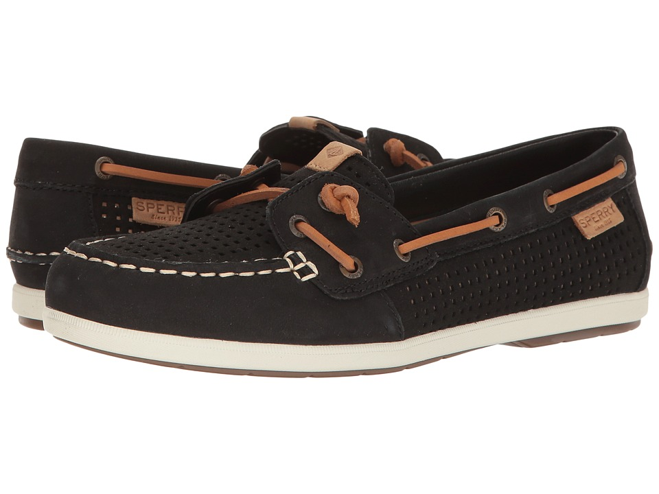 Sperry Coil Ivy Perf (Black) Women