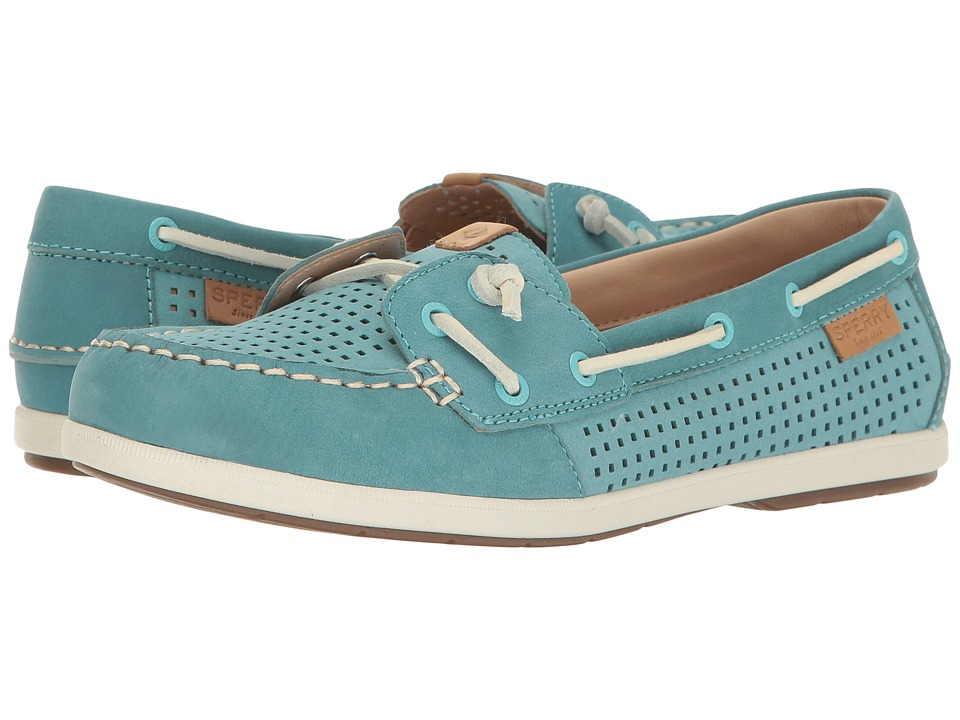Sperry - Coil Ivy Perf (Aqua) Women's Moccasin Shoes