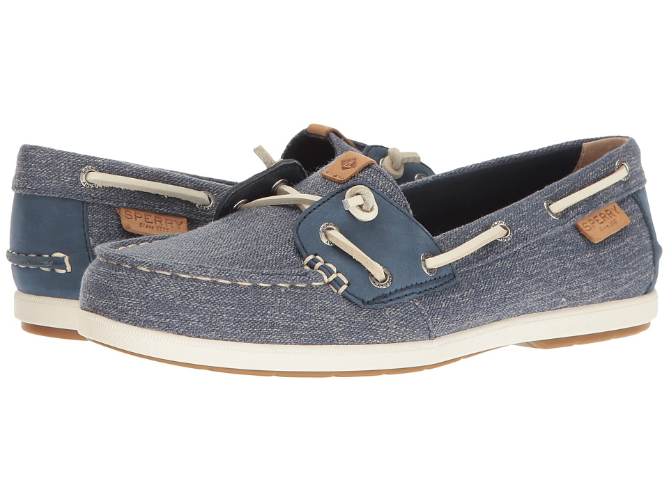 Sperry - Coil Ivy Canvas (Navy) Women's Slip on Shoes