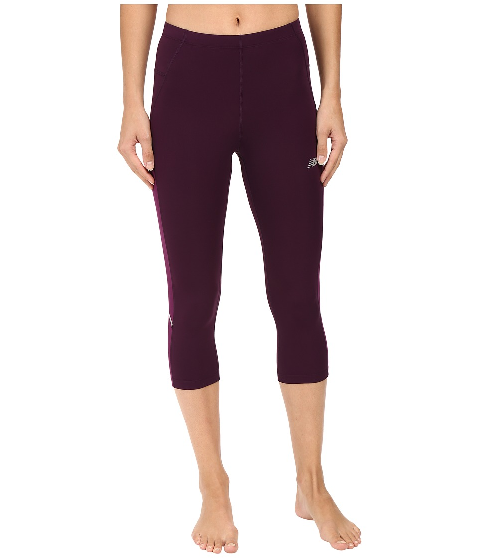 New Balance - Accelrt Capris (Asteroid/Imperial Purple) Women's Capri