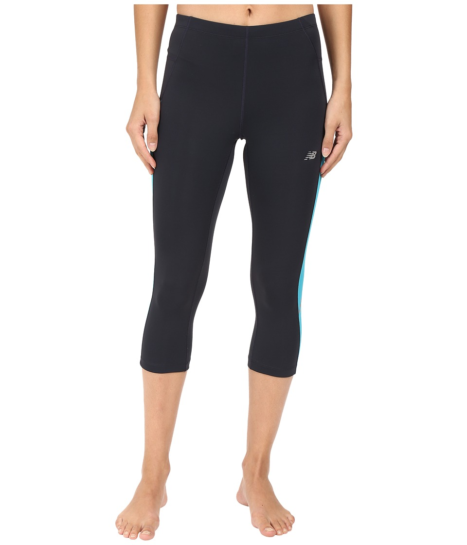 New Balance - Accelrt Capris (Outer Space/Seaglass) Women's Capri