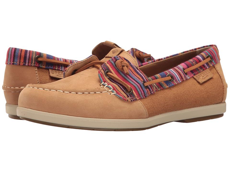 Sperry - Coil Ivy Carib Stripe (Tan Stripe) Women's Moccasin Shoes