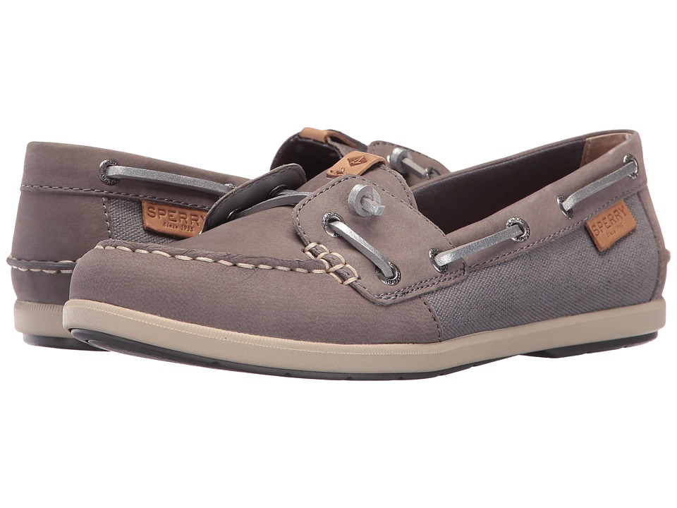 Sperry Coil Ivy Leather Canvas (Grey) Women