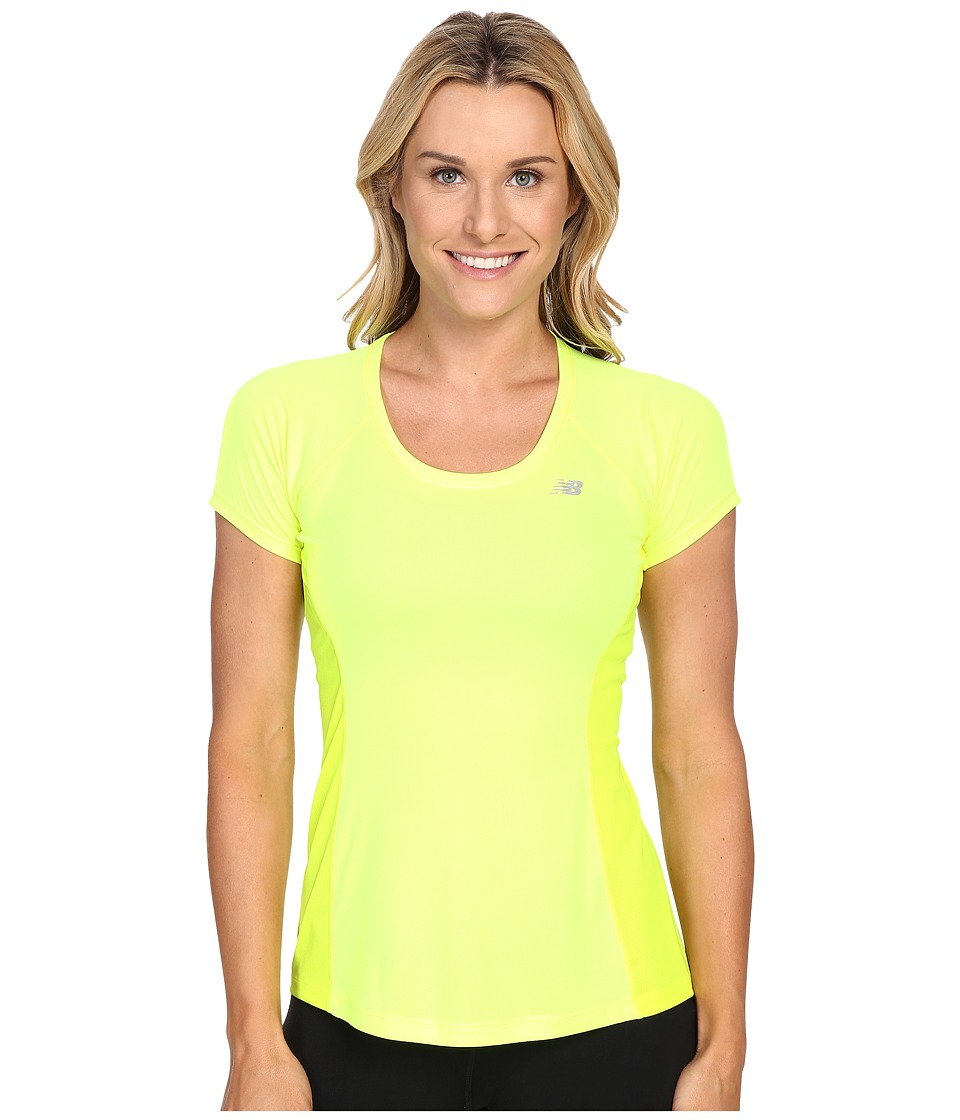 New Balance - Ice Short Sleeve (Hi Lite) Women's Clothing