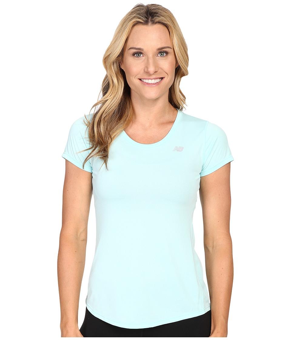 New Balance - Accelerate Short Sleeve Tee (Arctic Blue) Women's Short Sleeve Pullover