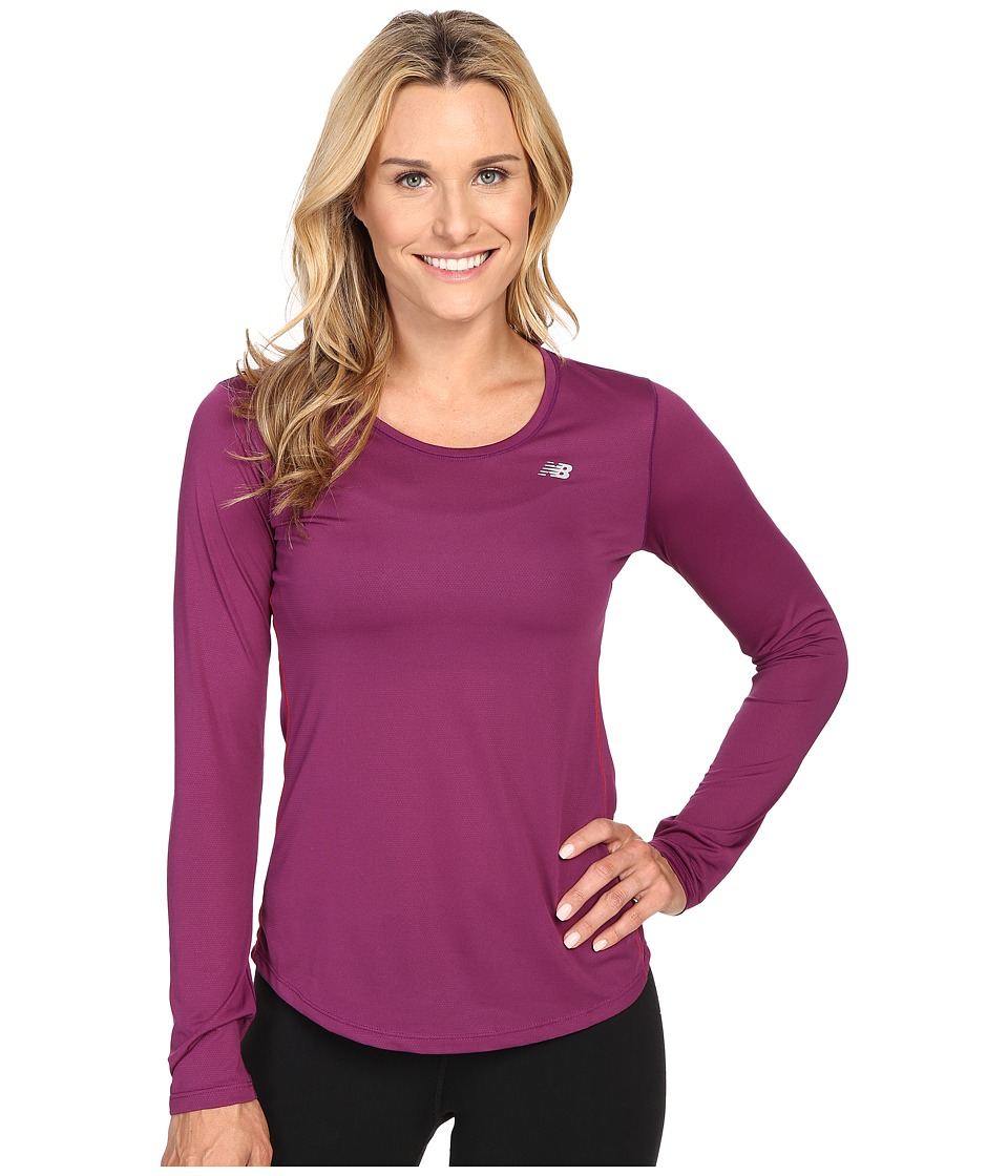 New Balance - Accelerate Long Sleeve (Imperial Purple/Deep Orchid) Women's Long Sleeve Pullover