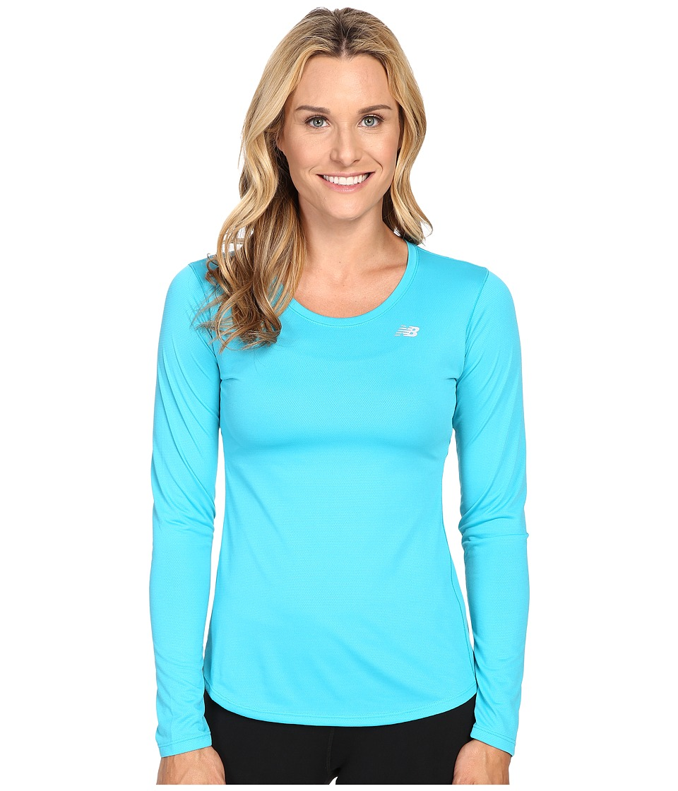New Balance - Accelerate Long Sleeve (Seaglass) Women's Long Sleeve Pullover