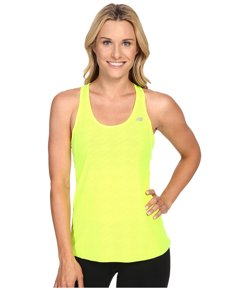 New Balance - Excel Raceday Tank Top (Hi Lite) Women's Sleeveless