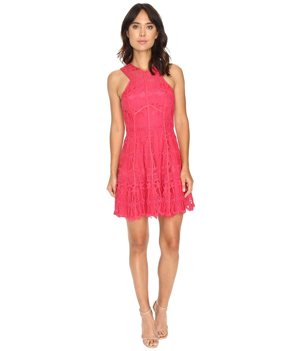 Adelyn Rae - Fit and Flare w/ Grosgrain Trim (Rose Pink) Women's Dress