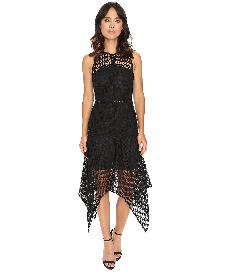 Adelyn Rae - Lace Midi Dress (Black) Women's Dress