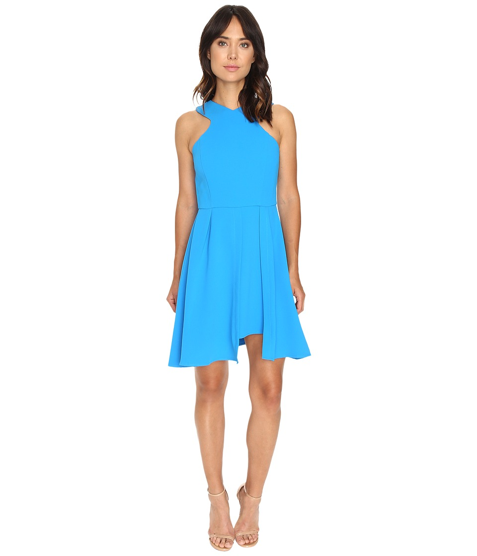Adelyn Rae - Fit and Flare Dress w/ Pleated Skirt (Bright Blue) Women's Dress