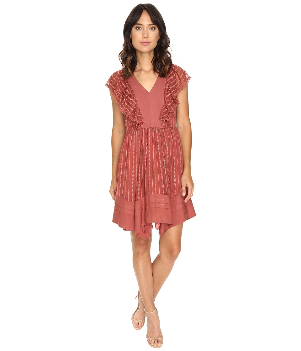 Adelyn Rae - Chiffon Fit and Flare Dress (Dusty Rose) Women's Dress