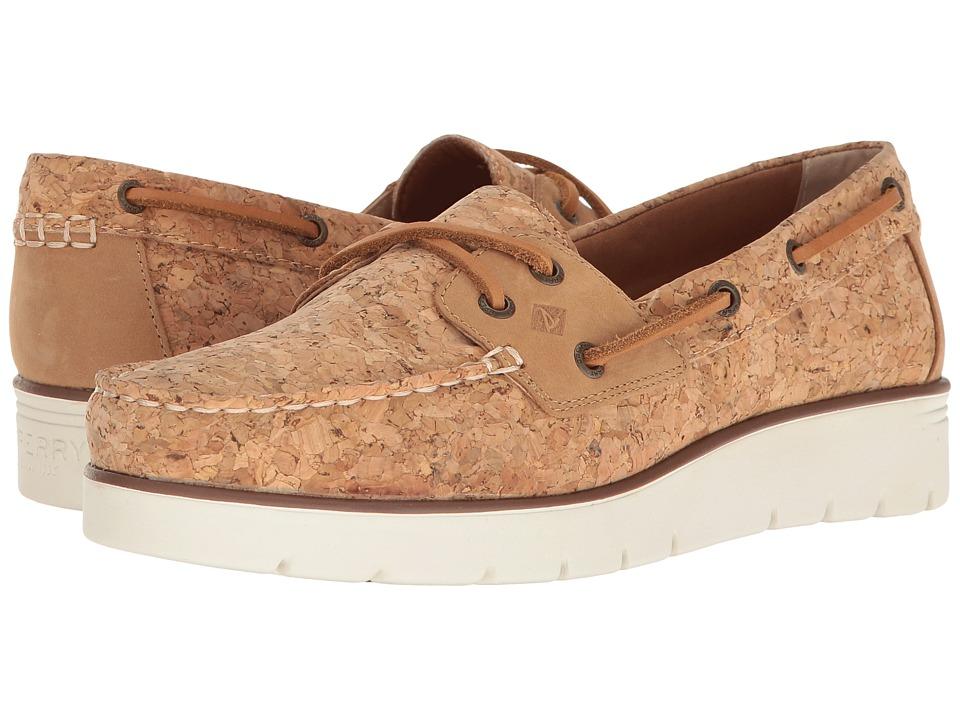 Sperry - Azur Cora Cork (Tan Cork) Women's Moccasin Shoes