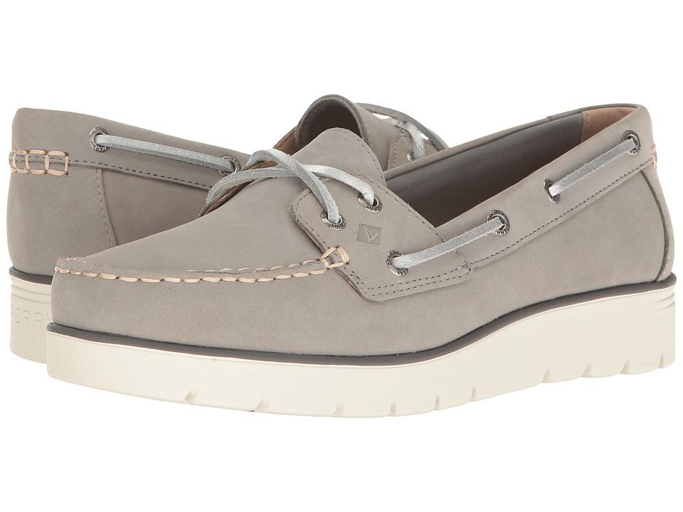 Sperry - Azur Cora Nubuck (Grey) Women's Moccasin Shoes