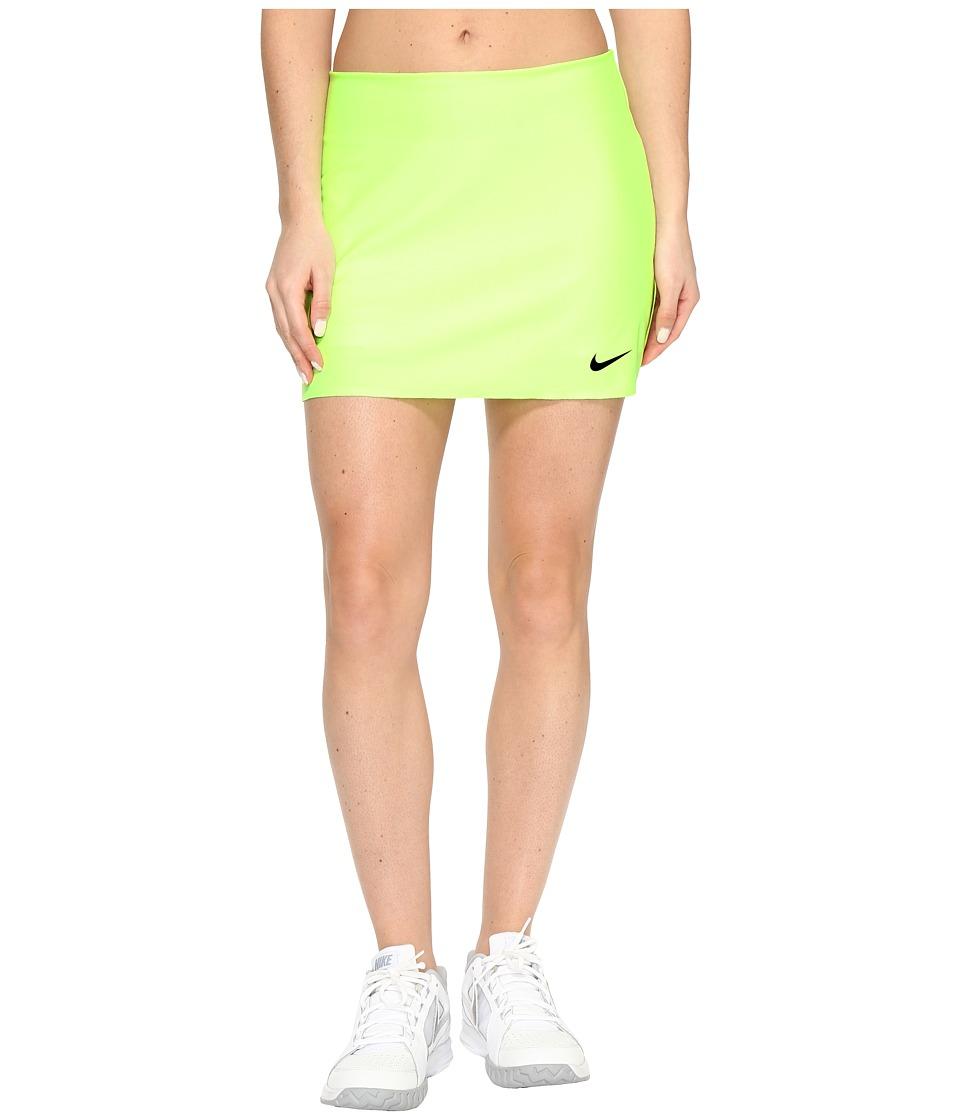 Nike Court Power Spin Tennis Skirt (Ghost Green/Black) Women