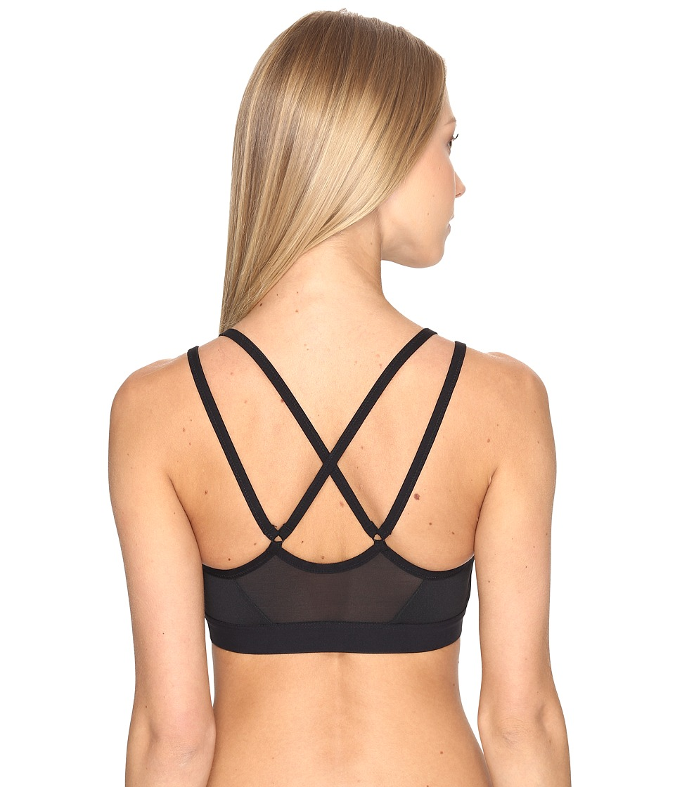 Nike - Pro Indy Light Support Sports Bra (Black/Black/White) Women's Bra