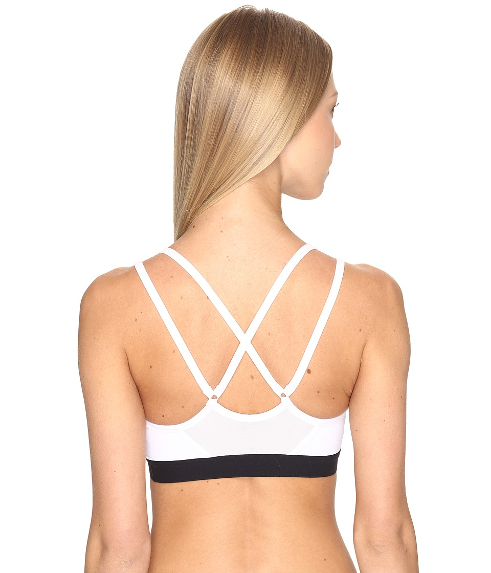 Nike - Pro Indy Light Support Sports Bra (White/Black/Black) Women's Bra