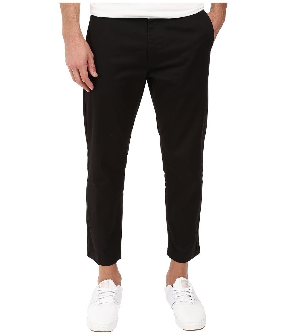 Obey - Straggler Flooded Pants (Black) Men's Casual Pants