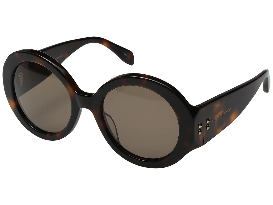Alexander McQueen - AM0032S (Havana/Brown) Fashion Sunglasses