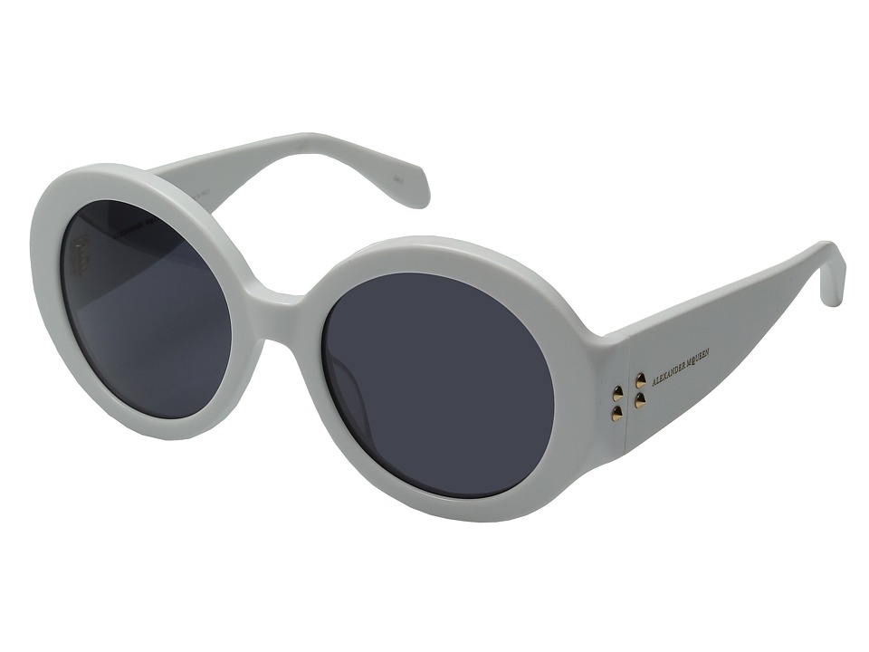 Alexander McQueen - AM0032S (White/Smoke) Fashion Sunglasses