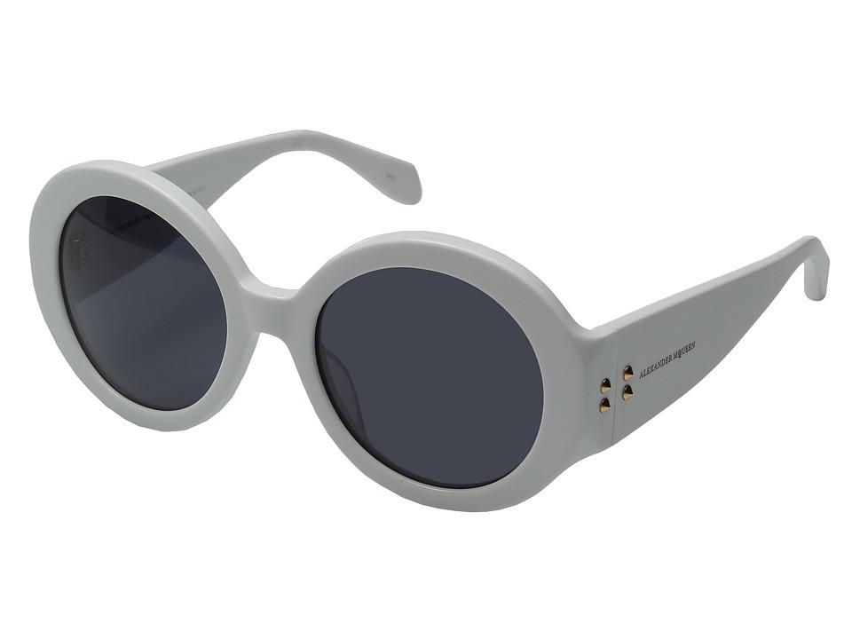 Alexander McQueen - AM0032S (White/Smoke) Fashion Sunglasses