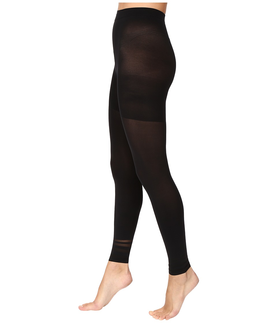 Spanx - Floating Lines Footless Tights (Very Black) Control Top Hose