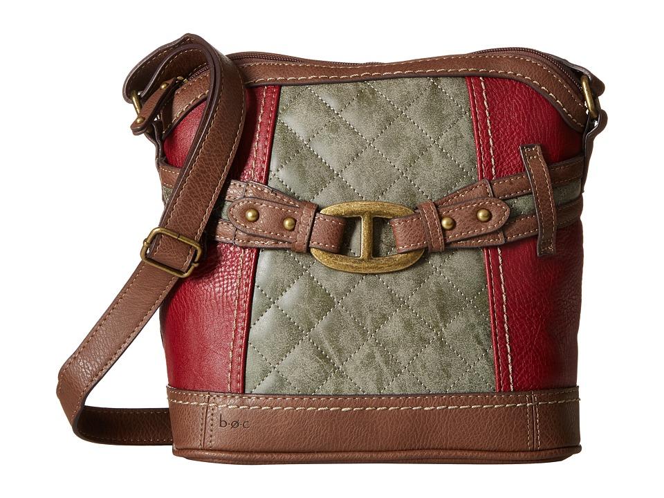 b.o.c. - Hayward Crossbody (Burgundy/Charcoal/Walnut) Cross Body Handbags