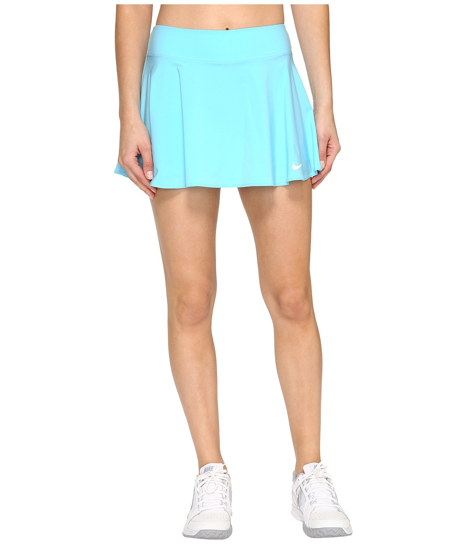 Nike - Court Tennis Skirt (Still Blue/White) Women's Skort