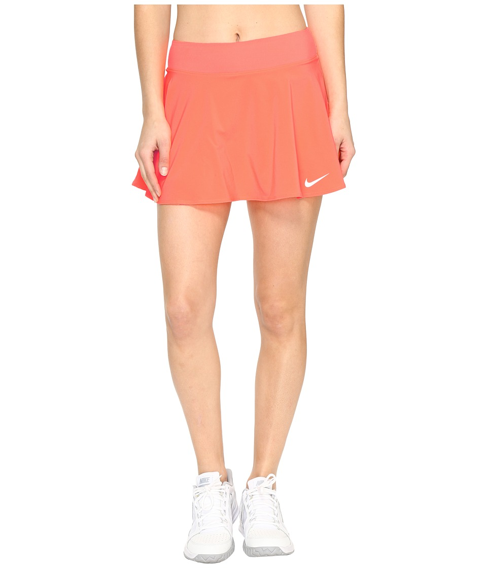 Nike - Court Tennis Skirt (Hyper Orange/White) Women's Skort