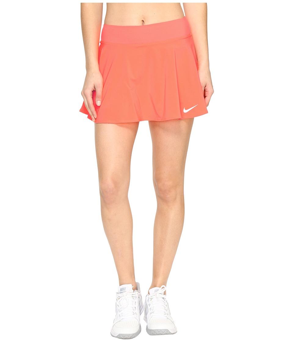 Nike Nike Court Flex Pure Tennis Skirt (Hyper Orange/White) Women