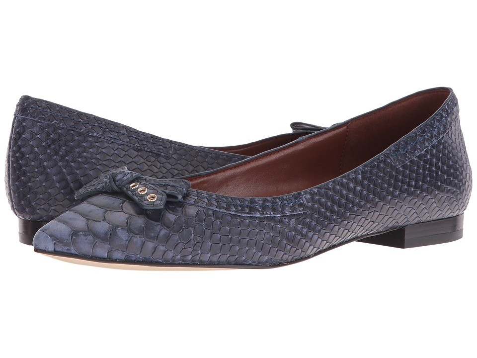 Cole Haan - Alice Bow Skimmer (Marine Blue Snake Print) Women's Shoes