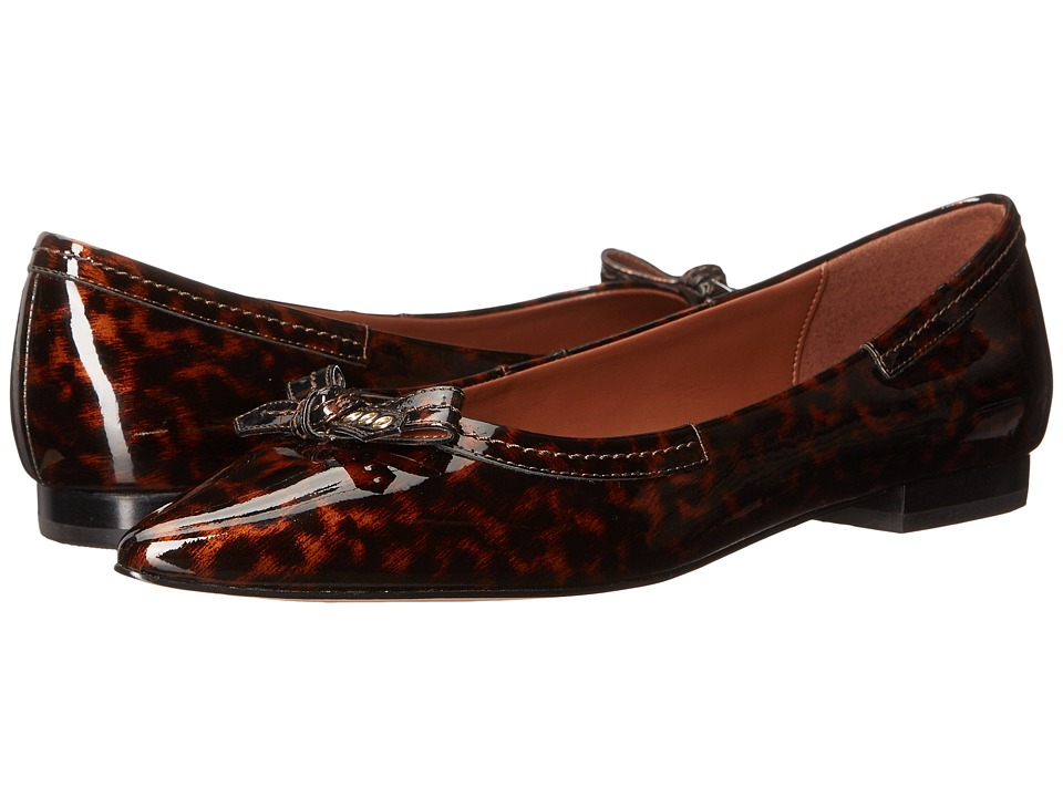 Cole Haan - Alice Bow Skimmer (Tortoise Patent) Women's Shoes