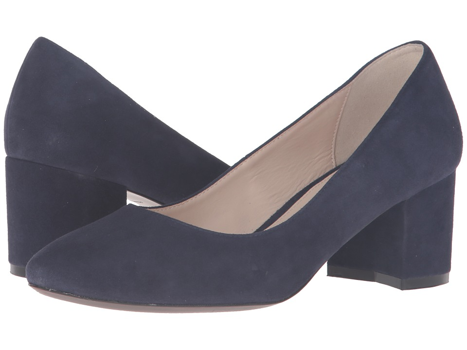 Cole Haan - Eliree Pump 55mm (Marine Blue Suede) Women's Shoes