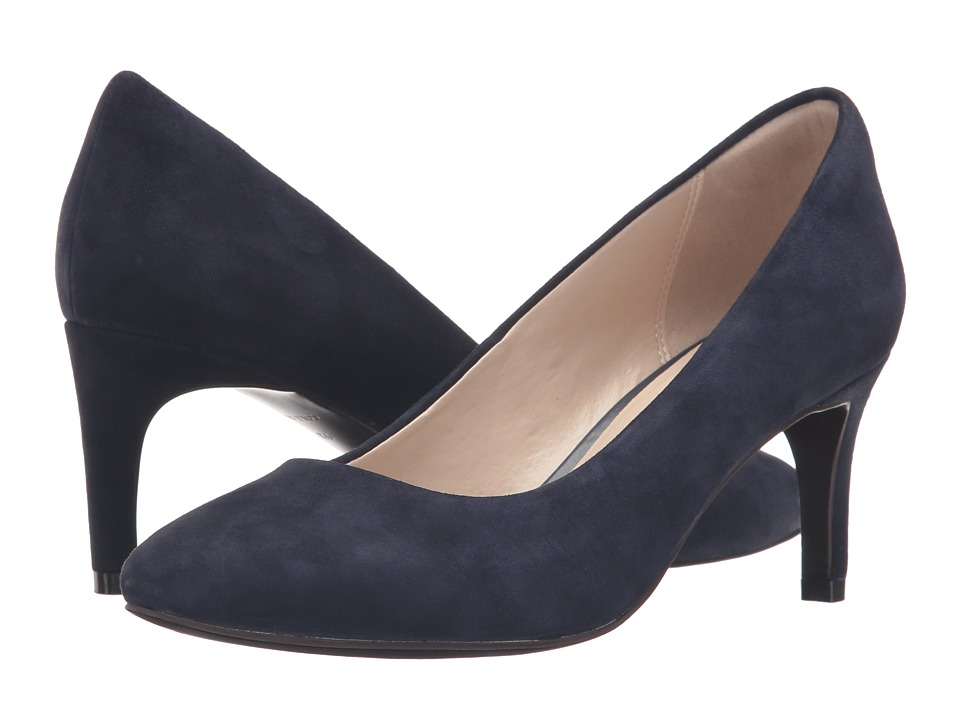 Cole Haan Clara Grand Pump 65mm (Marine Blue Suede) Women