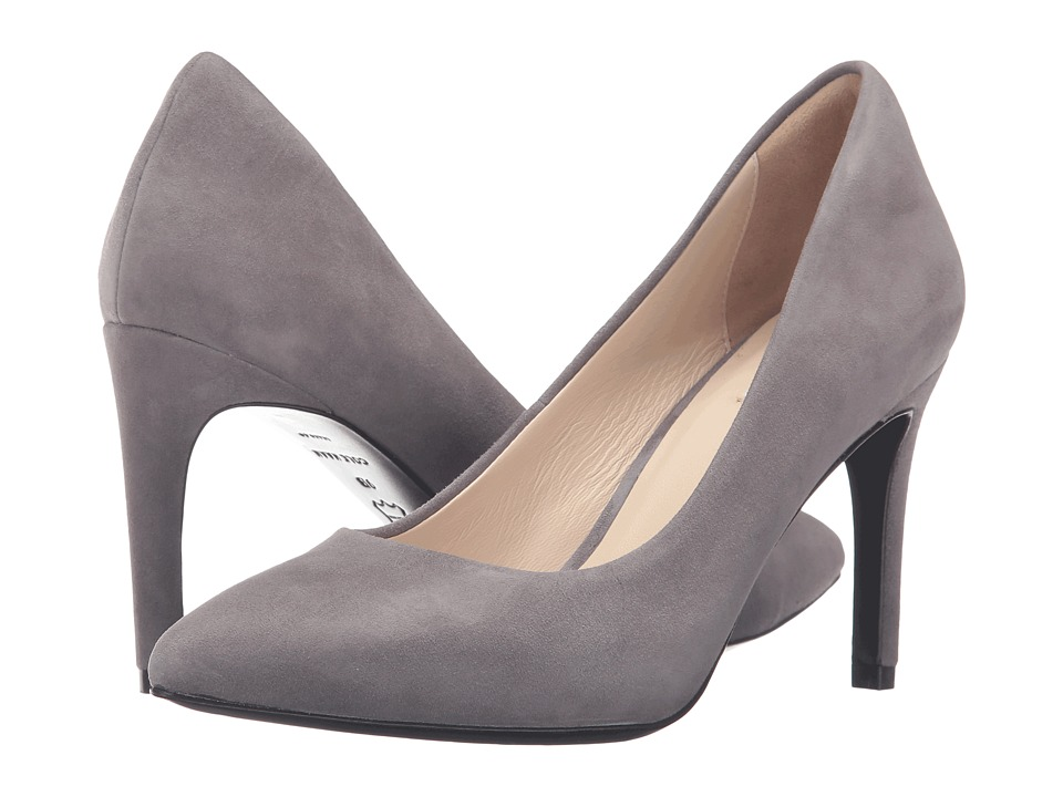 Cole Haan - Eliza Grand Pump 85mm (Stormcloud Suede) Women's Shoes