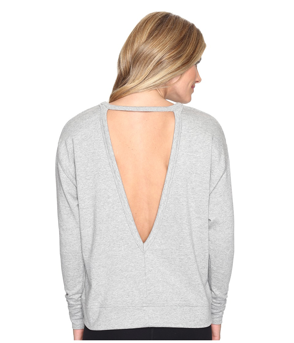 Nike - Dry Long Sleeve Training Top (Dark Grey/Heather/Black) Women's Clothing