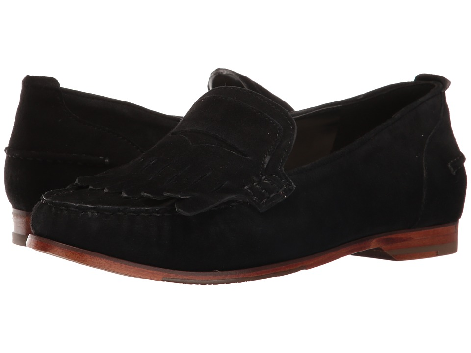 Cole Haan - Pinch Grand Penny Kiltie (Black Suede) Women's Shoes