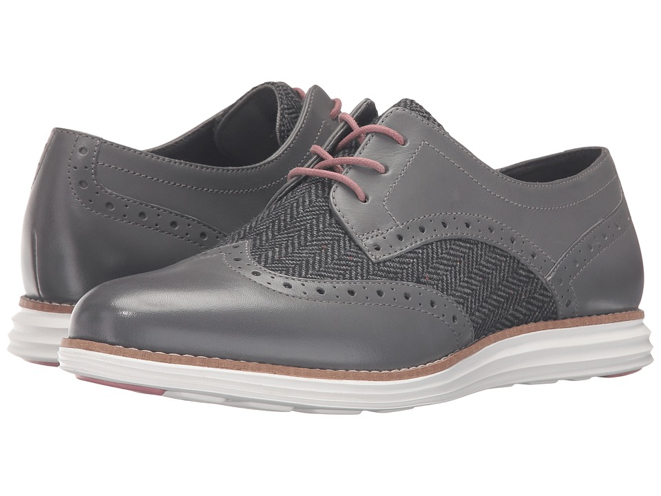 Cole Haan - Original Grand Wingtip (Castlerock Tweed/Optic White) Women's Lace Up Wing Tip Shoes