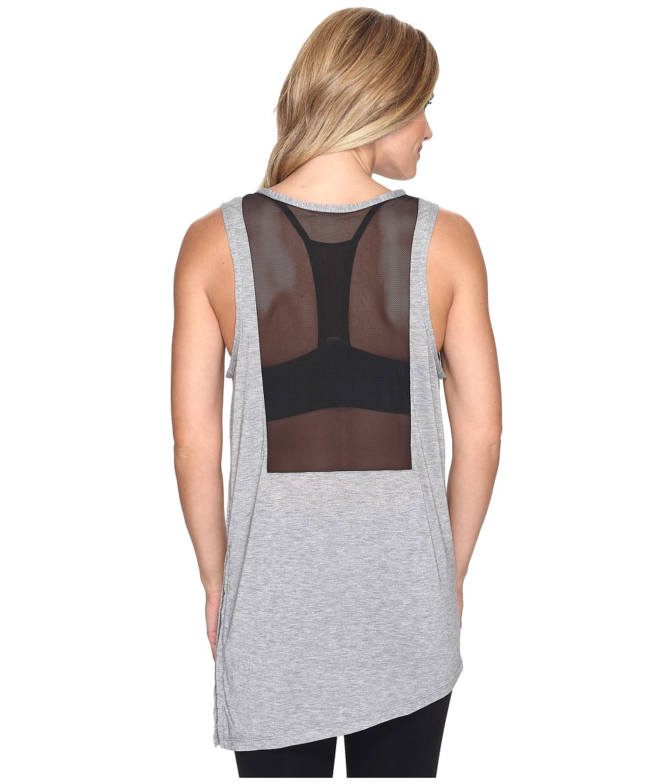 Nike - Breathe Training Tank (Carbon Heather/Black) Women's Sleeveless