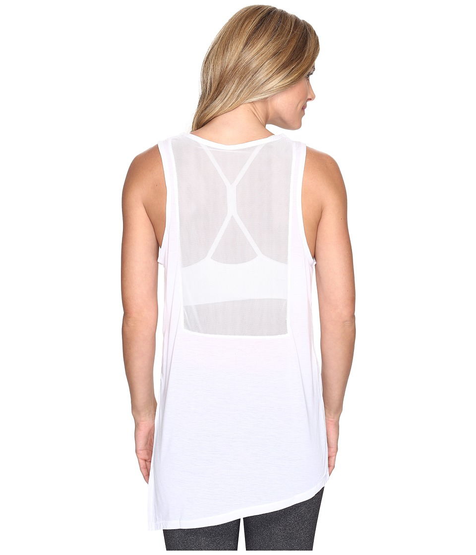 Nike - Breathe Training Tank (White/Black) Women's Sleeveless