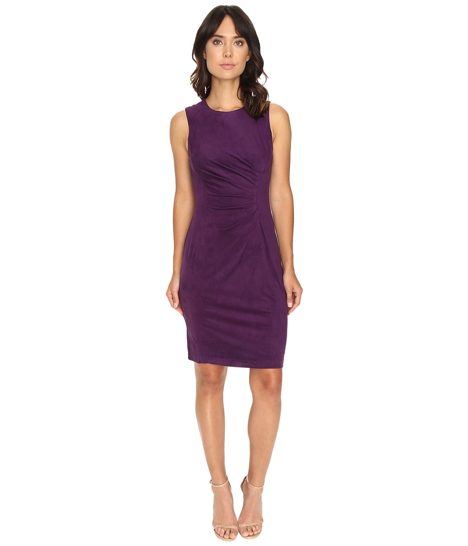 London Times - Suede w/ Pleated Front (Plumberry) Women's Dress