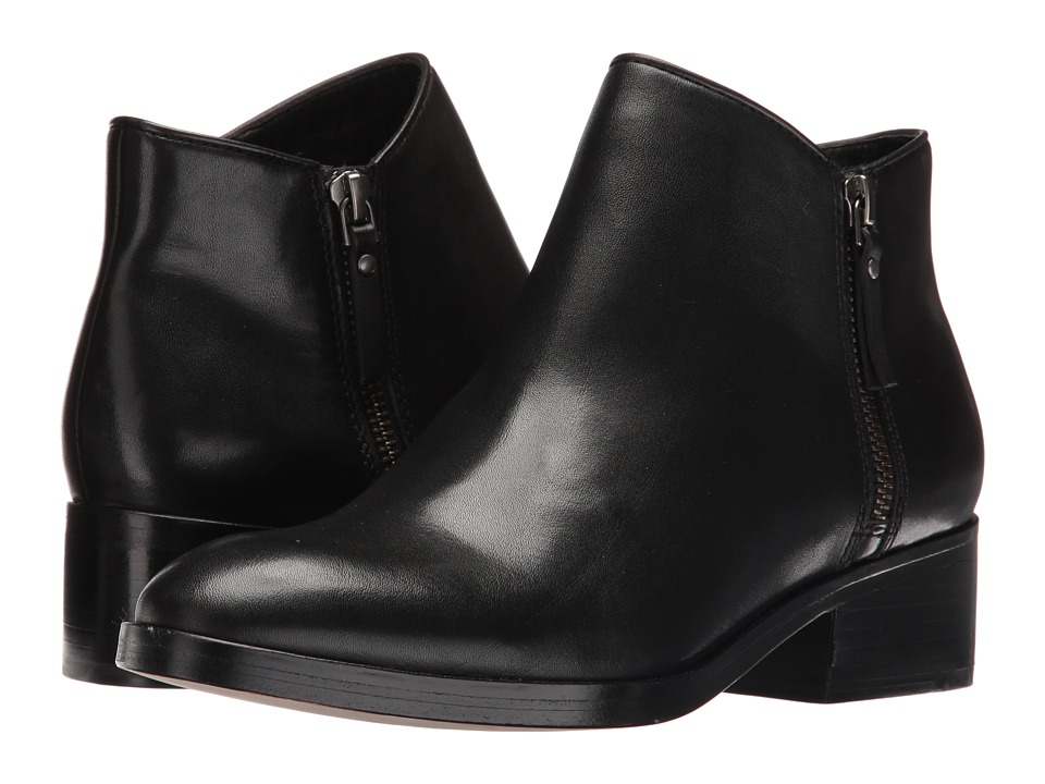 Cole Haan Hayes Flat Bootie (Black Leather) Women