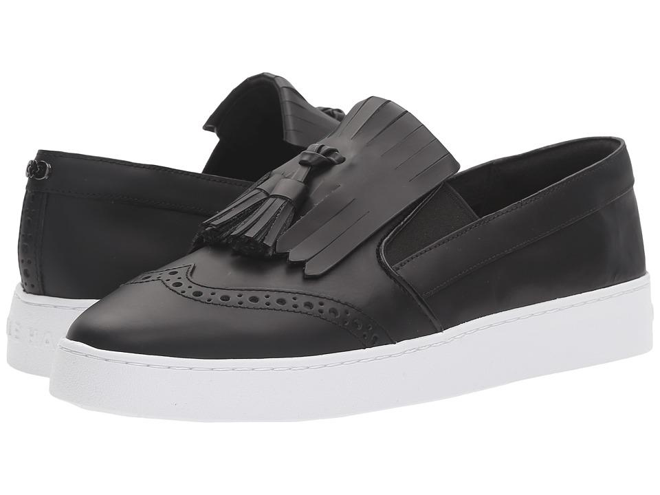 Cole Haan - Reiley Tassel Slip-On (Black Leather) Women's Slip on Shoes