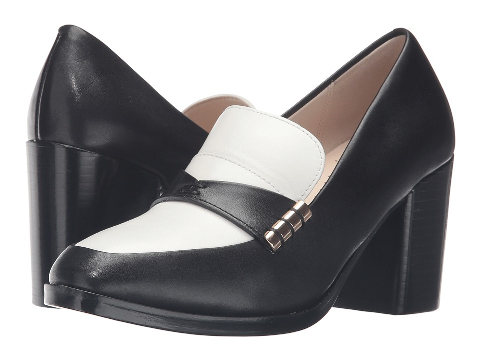 Cole Haan - Mazie Pump (Black Leather/White Leather) Women's Shoes