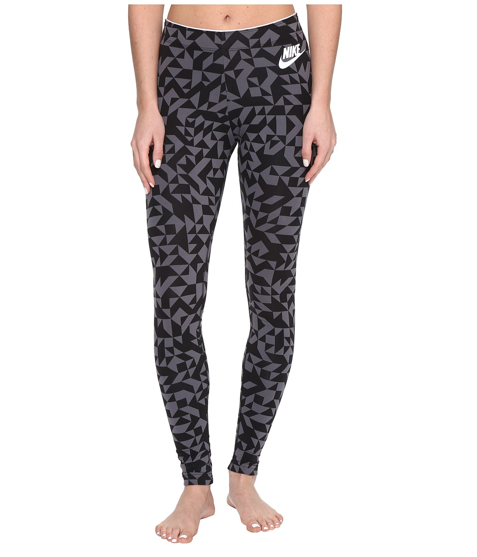 Nike - Sportswear Tangrams Legging (Black/White) Women's Casual Pants