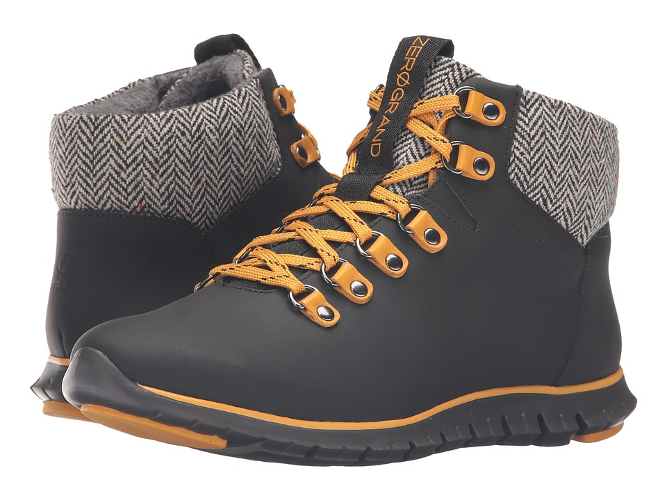 Cole Haan Zerogrand Hiker Boot (Black Leather/Natural Tweed/Black) Women