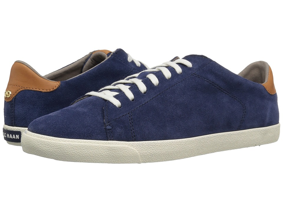 Cole Haan - Trafton Clubcourt (Marine Blue Suede) Women's Lace up casual Shoes