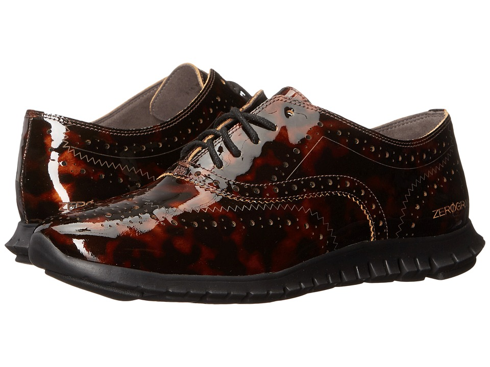 Cole Haan - Zerogrand Wing Oxford (Tortoise Print Leather) Women's Shoes