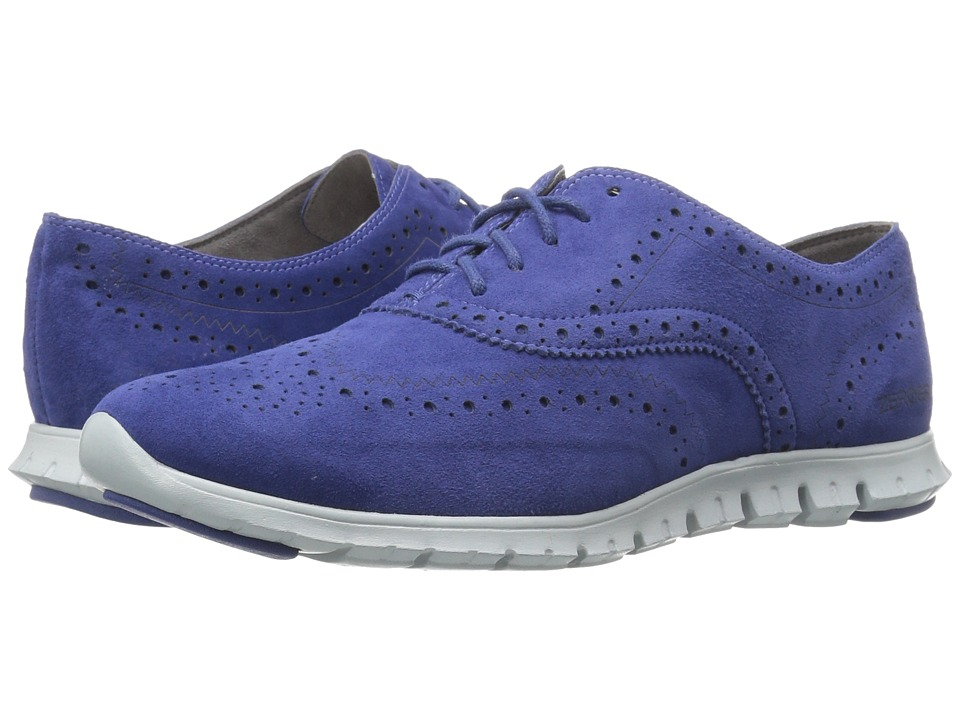 Cole Haan - Zerogrand Wing Oxford (Rainstorm Suede Closed Hole/Pearl Blue) Women's Shoes